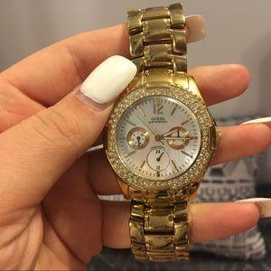Guess golden watch